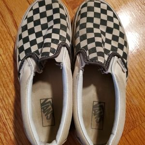 VANS Off The Wall Boy's Size 2 Checkered Sneakers